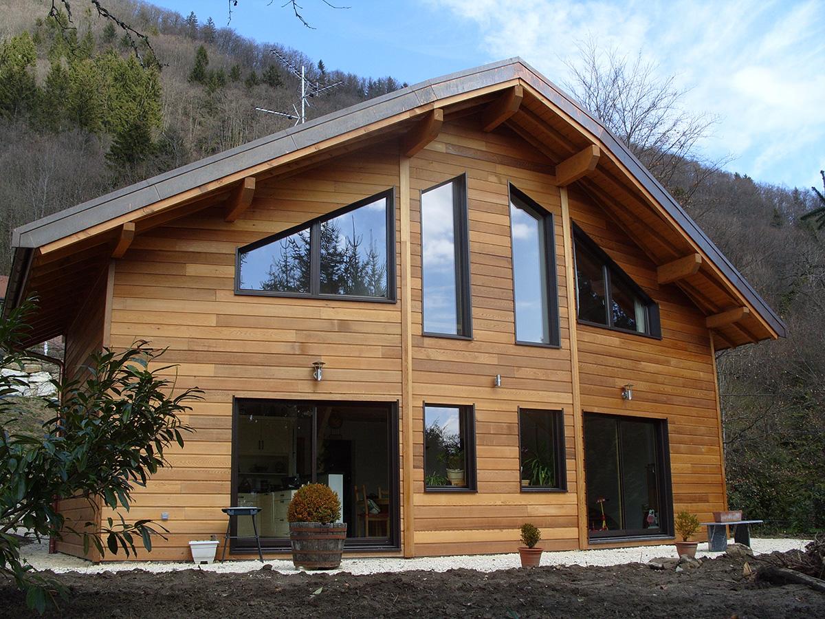 Constructeur maison bois haute savoie annemasse pays de for Maison de la literie annemasse